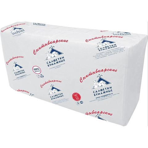 Салфетки бумажные Profi Pack 33x33 см белые 2-слойные 200 штук в упаковке