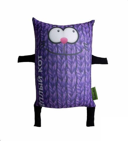 Подушка-игрушка «Теплый кот», фиолетовый-2