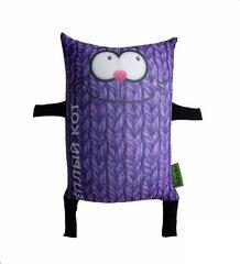 Мягкая игрушка-подушка Gekoko «Теплый кот», фиолетовый 2