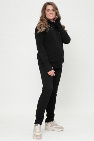Утепленный спортивный костюм для беременных и кормящих 11885 черный
