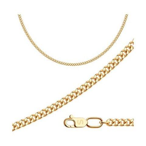 582040802 - Цепь из золота 585 пробы панцирного плетения