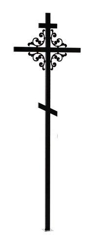 Крест металлический фигурный №3