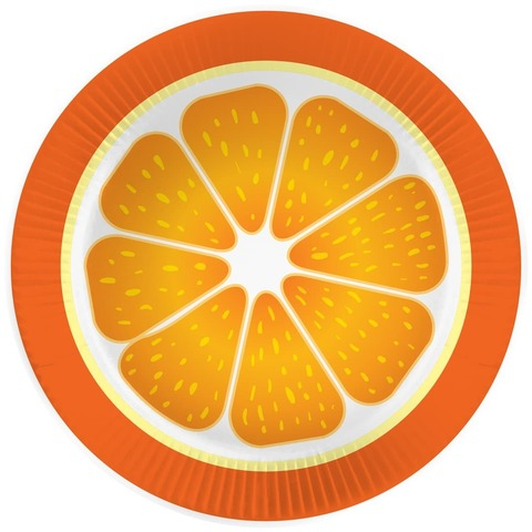 Тарелки (7''/18 см) Апельсин, 6 шт.