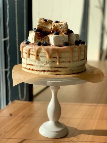 Торт сметана и мед
