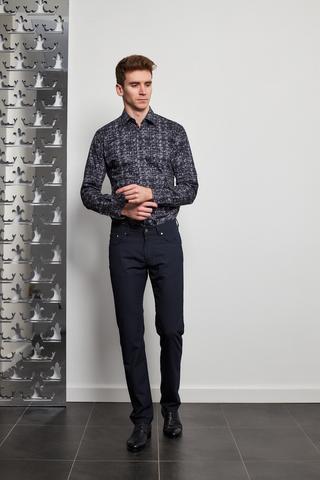 KARL Lagerfeld Сорочка на кнопках в геометрический орнамент
