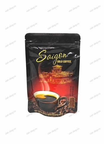 Вьетнамский растворимый черный кофе Saigon Gold, Tin Nghia, 75 гр.