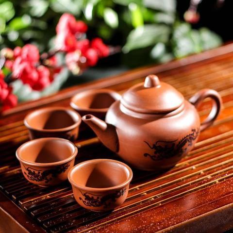 Набор для чайной церемонии Дракон, 5 предметов: чайник 200 мл, 4 пиалы 25 мл
