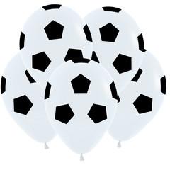 S 12''/30см, Футбольный мяч, Белый Пастель / 50 шт. /
