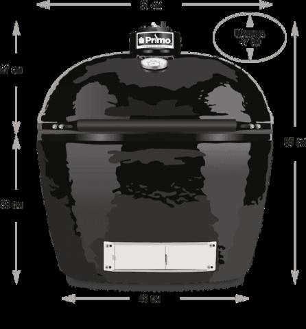 Керамический гриль Primo Oval 300 (FAMILY)