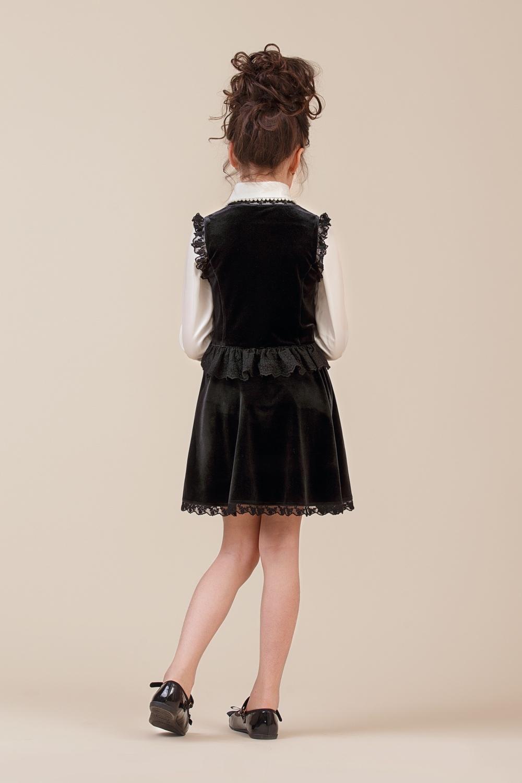 Жилет черный для девочки 34-8005-1