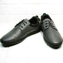 Модные мужские туфли сникерсы летние Ridge Z-430 75-80Gray.