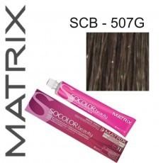 Matrix SOCOLOR.beauty: Extra-Coverage Gold 507G блондин золотистый 100% покрытие седины, краска стойкая для волос (перманентная), 90мл