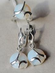 Катэна  (кольцо + серьги из серебра)
