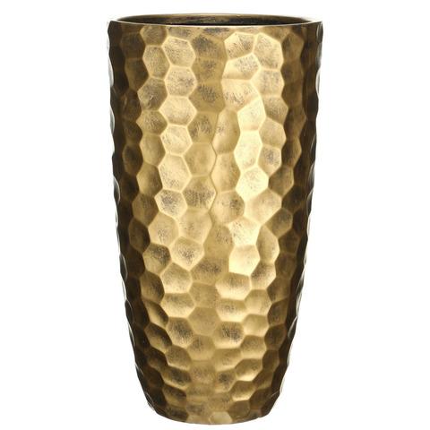 MVASE41-GLD Кашпо Мозаик Ваза, файберстоун, золото, D41.5 H77 cm