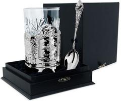 Серебряный набор для чая «Отечество» из 3-х предметов