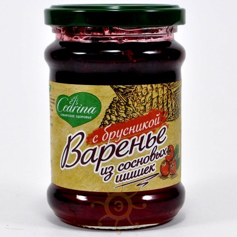 Варенье из сосновой шишки с брусникой Ягода сибирская, 300г