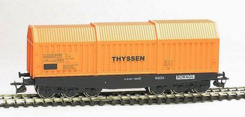 6-ос. Вагон для перевозки стали (Shis) «THYSSEN», DB, (IV Эп.)