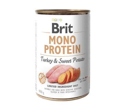 Brit Mono Protein Dog. Індичка з бататом консерва для собак.