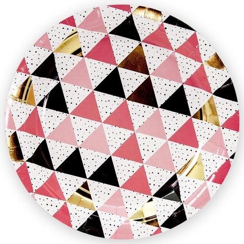 Тарелки (7''/18 см) Геометрия треугольников, 6 шт.