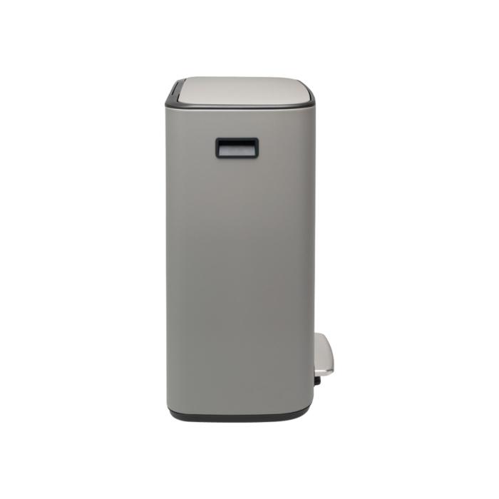 Мусорный бак Bo с педалью (2 x 30 л), Минерально-серый, арт. 211485 - фото 1