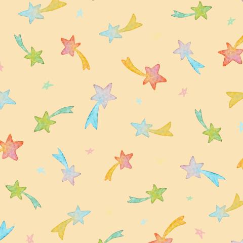 Разноцветные звездочки на персиковом фоне