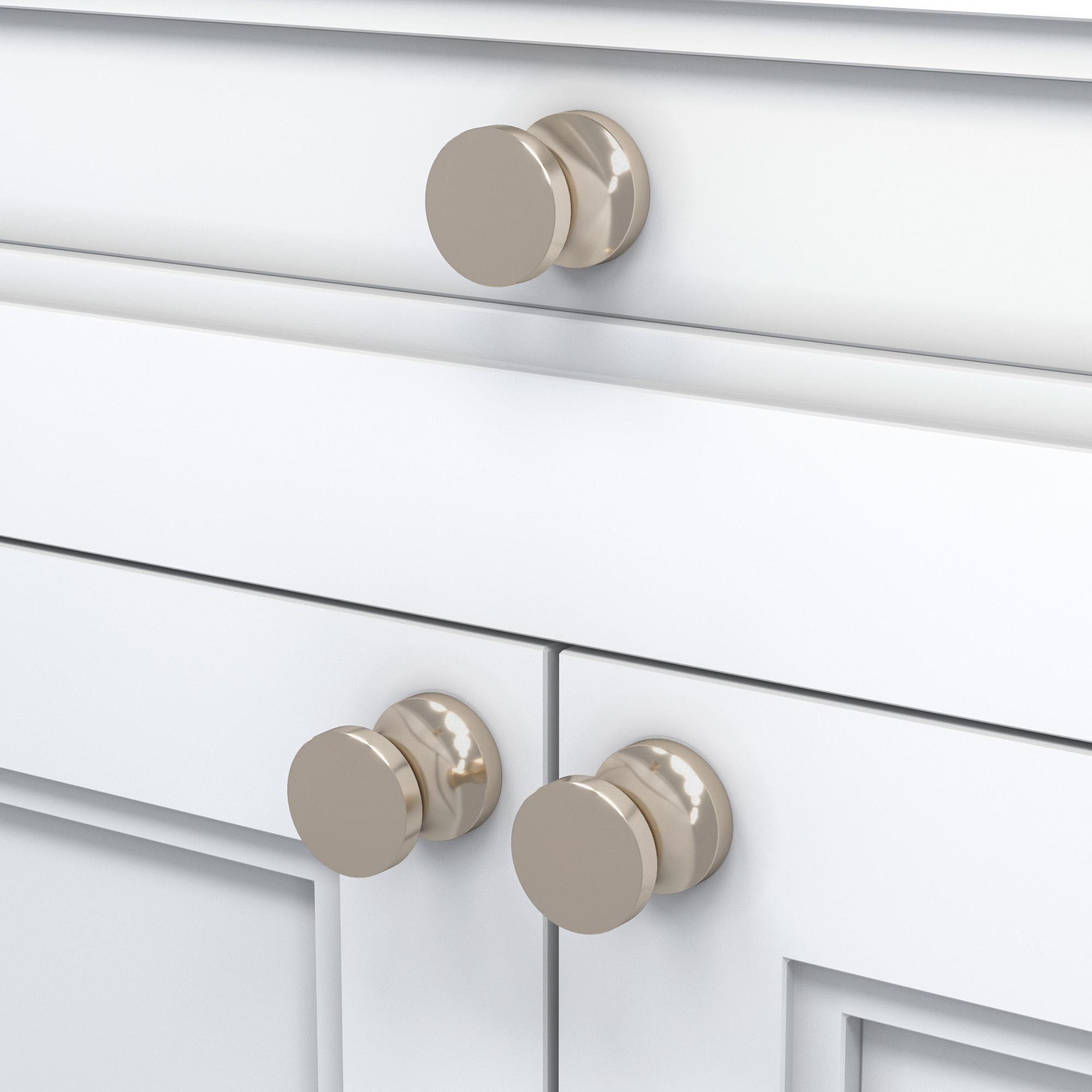 Кнопка Poplar/Polished Nickel