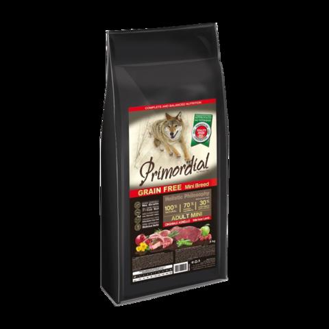 Primordial Mini Adult Сухой корм для собак мелких пород с кабаном и ягненком (беззерновой)