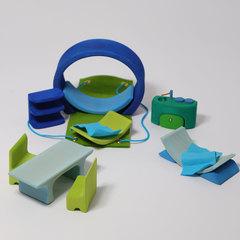 Домик мобильный сине-зеленый (Grimms)