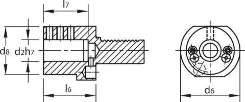 Держатель расточного резца Форма Е2 VDI 20
