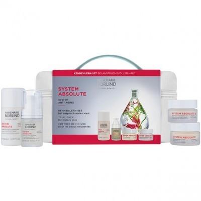 Annemarie Borlind SYSTEM ABSOLUTE: Набор: Очищающий лосьон, Флюид, Дневной крем, Ночной крем (Trial Pack for Mature Skin), 50мл +15мл +15мл +15мл