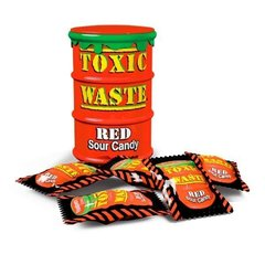 Кислые леденцы Toxic Waste Red 42 гр