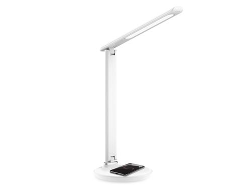 Светодиодная настольная лампа с беспроводной зарядкой DE520 WH белый LED 3000-6400K 8W