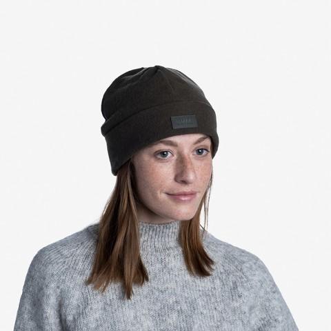 Шерстяная шапка с флисом Buff Hat Wool Fleece Khaki фото 2