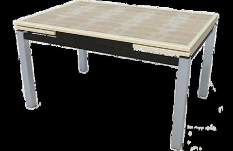 Стол стеклянный раскладной Даласи-кожа