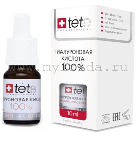 Гиалуроновая кислота 100% Hyaluronic Acid  Tete 10 мл.