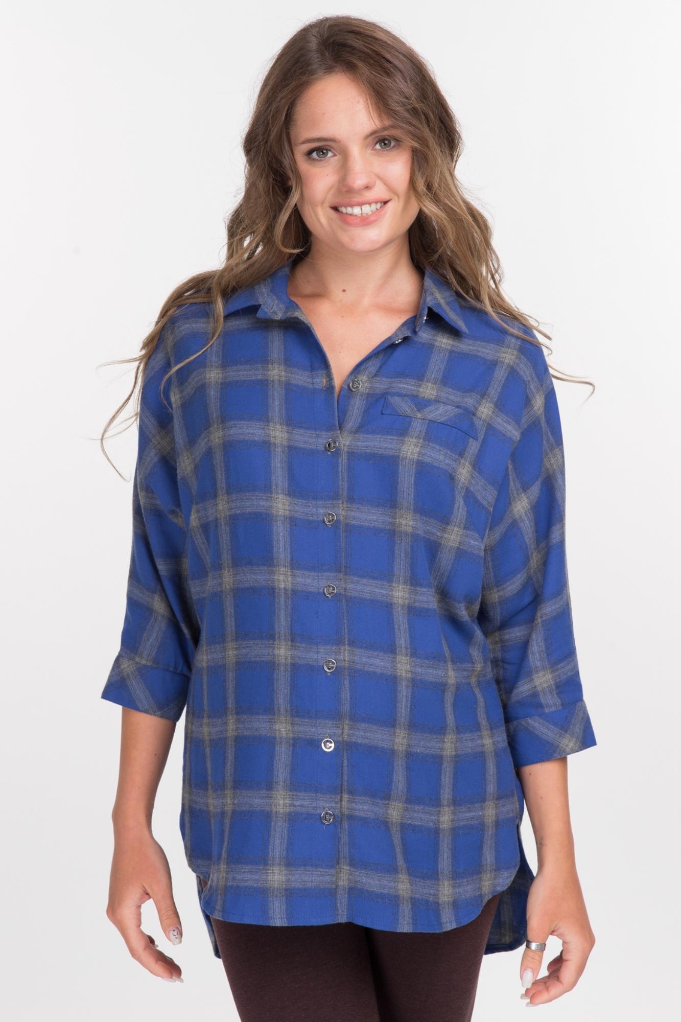 Рубашка для беременных 08960 синий