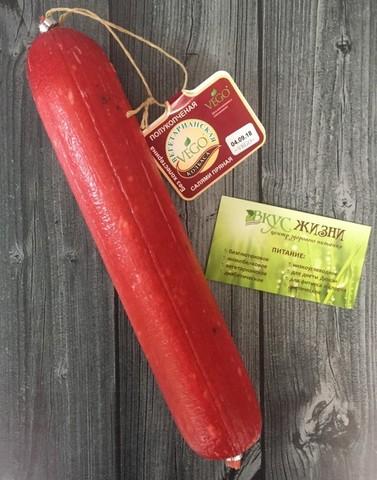 Колбаса Салями полукопченая вегетариан 400г Малика