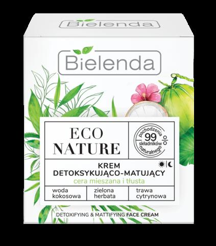 ECO NATURE Кокосовая вода+Зеленый чай+Лемонграсс Крем для детоксикации и матирования 50мл
