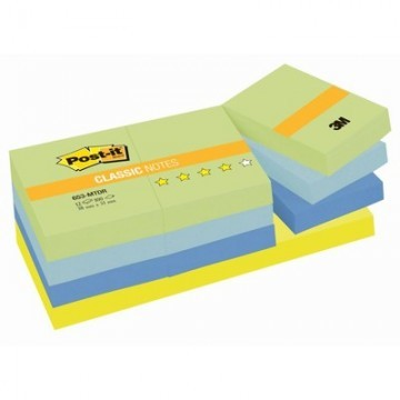 Стикеры Post-it Original 653-МТ 38x51 мм неоновые 4 цвета (12 блоков по 100 листов)