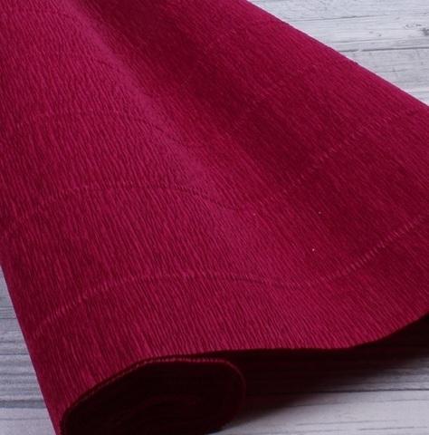 Бумага гофрированная, цвет 984 светло-бордовый, 140г, 50х250 см, Cartotecnica Rossi (Италия)