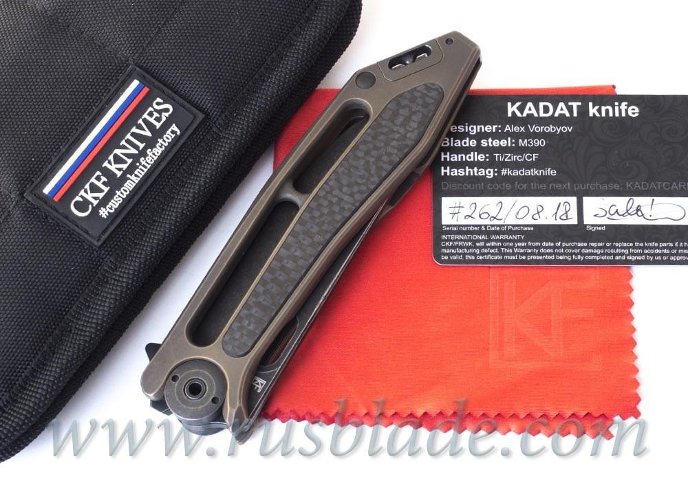 CKF Kadat Sale (Alex Vorobyov, M390, Ti, Zirc, Timascus)