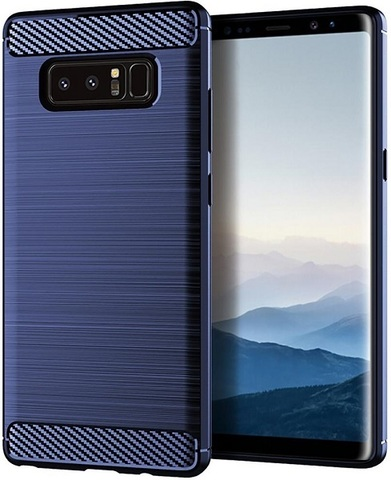 Чехол Samsung Galaxy Note 8  цвет Blue (синий), серия Carbon, Caseport