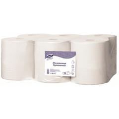 Полотенца бумажные в рулонах с центральной вытяжкой Luscan Professional 2-слойные 6 рулонов по 150 метров