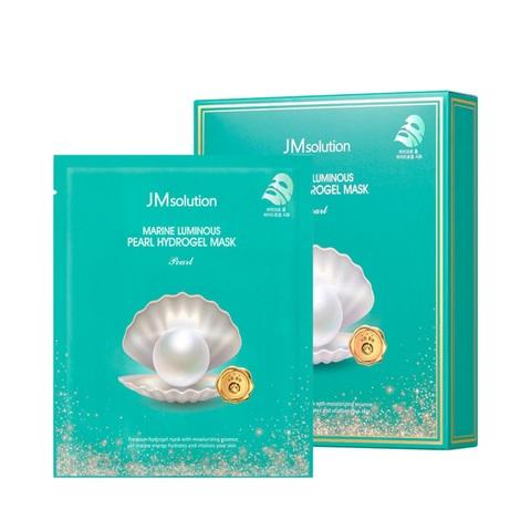 JMsolution Marine Luminous Pearl Hydrogel Mask Pearl гидрогелевая маска с экстрактом жемчуга