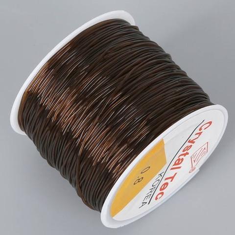 Спандекс резинка для браслетов 0,8 мм катушка 50 метров коричневый