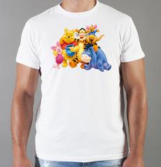 Футболка с принтом мультфильма Винни-Пух (Winnie the Pooh) белая 0017