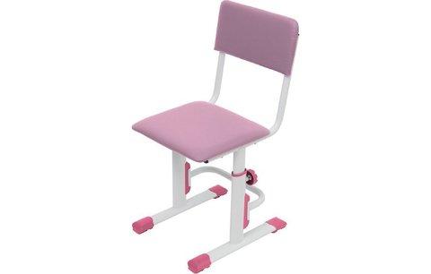 Стул для школьника регулируемый Polini kids City / Polini kids Smart S, белый-розовый