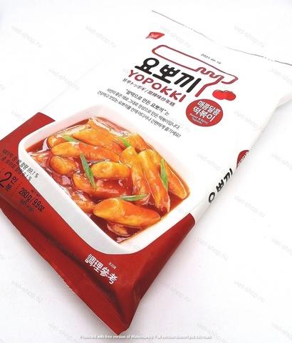 Рисовые клецки (топокки) с остро-сладким соусом, 280 гр.