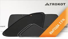 Каркасные автошторки на магнитах для ACURA TLX (2014+). Комплект на заднюю полусферу из 3 экранов