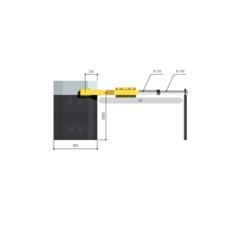 001G12000К Тумба шлагбаума с приводом и блоком управления CAME